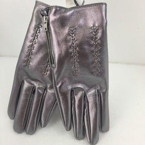 🆕 Top shop Shimmering Metallic Gloves. Sz M/L